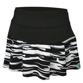 Box Pleat Skirt - Fractured Black