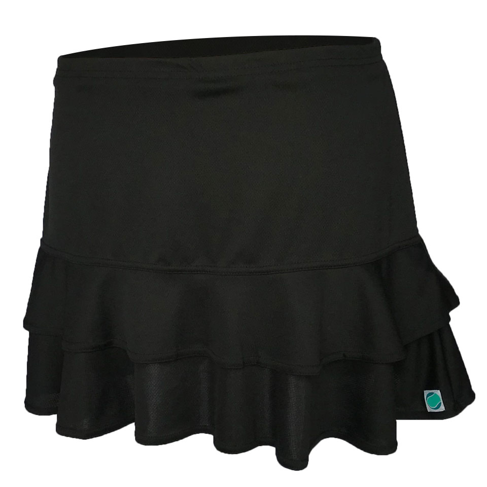 Frill Skirt - Black (Long)